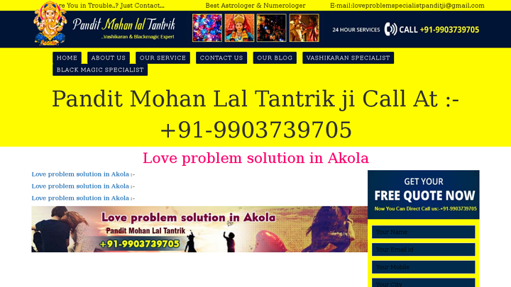 Pt  Mohan Lal Tantrik ji · Made with Love in India